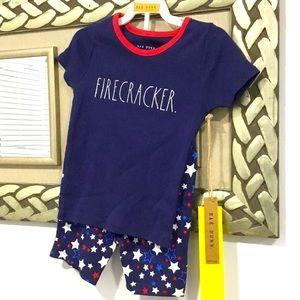 Rae Dunn Kid's Pajama Set Size 4 NWT